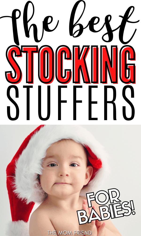 Pinnable image of stocking stuffers for babies.