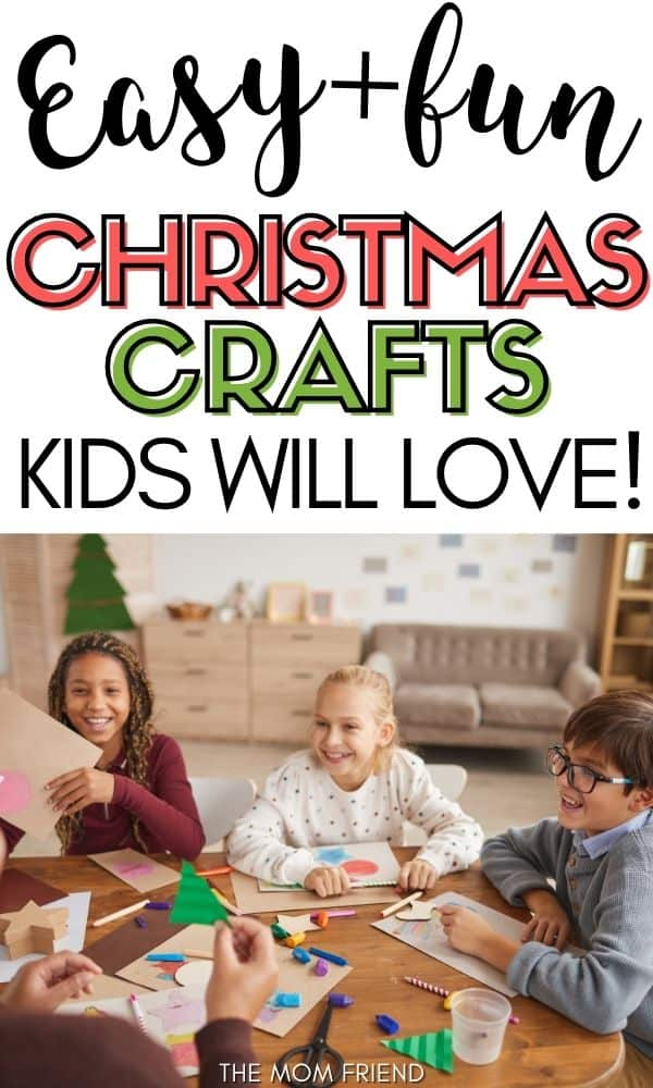 kids doing easy christmas crafts