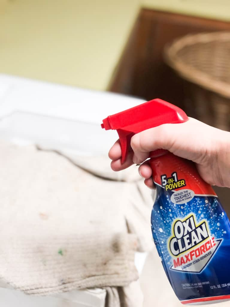 Bottle of Oxi Clean.