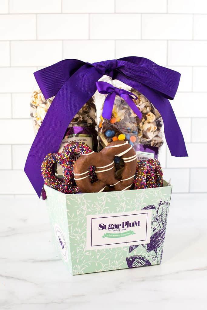 chocolate treat basket