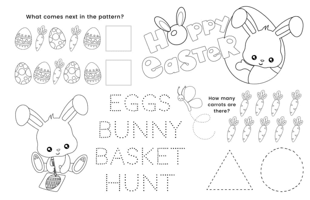 Easter coloring page printable.