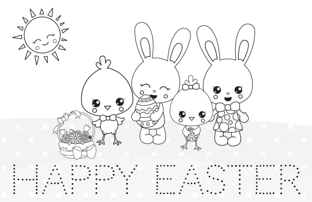 Printable Easter coloring page.