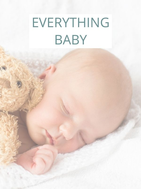Image of baby with caption: everything baby.