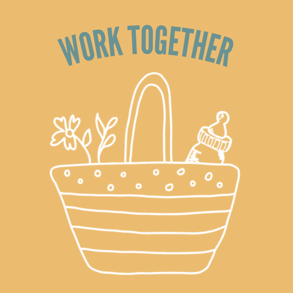 Work together graphic.