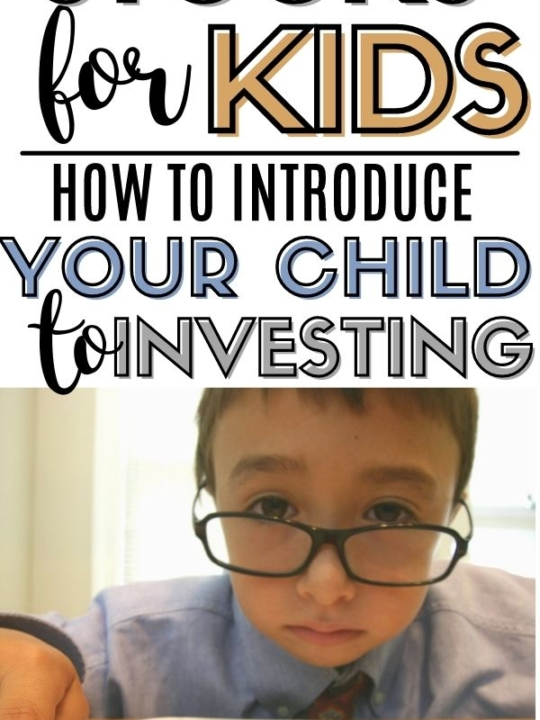 Graphic of stocks for kids - how to introduce your child to investing.