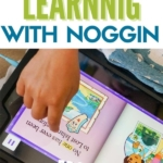 Text: preschool learning with noggin.