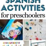 Pinnable image of 5 Spanish Activities for Preschoolers.