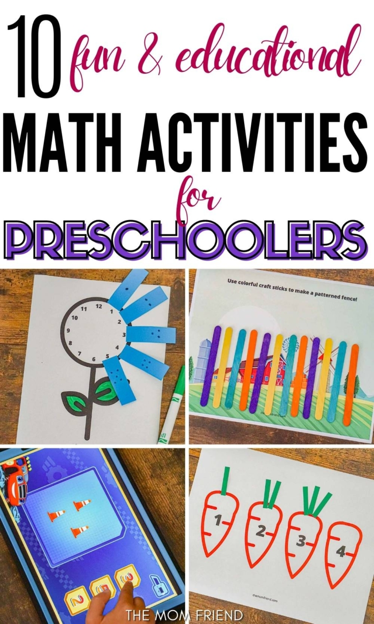 Graphic: 10 fun and educationalmath activities for preschool